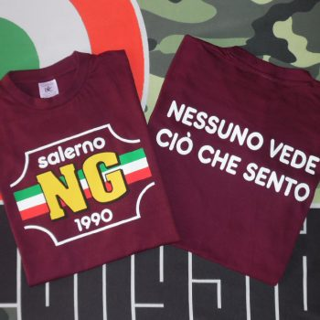 T-Shirt Salerno ng Amato Bordeaux